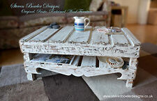 Handcrafted to Order Rustic Reclaimed Wood Coffee Table White Nautical Style