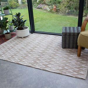 Modern Flatweave Living Room Rug Natural Beige Geometric Rugs Small Large Rug