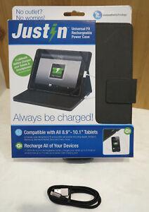 "Just In Case ITJ-4241U Rechargeable Power Case Folio 8.9"" - 10.1"" iPad Galaxy"