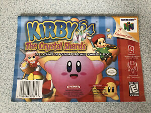 Kirby 64: The Crystal Shards (Nintendo 64, 2000) FRENCH MANUAL