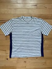 Vintage Stone Island Striped T-Shirt with Spell Out logo - XL (Osti, Marina)