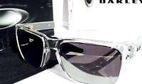 NEW* Oakley HOLBROOK CLEAR w POLARIZED Mirrored Black Iridium Sunglass 9102