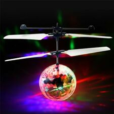 Electric LED Light Infrared Sensor Flying Ball Helicopter Crystal Kids Magic Toy