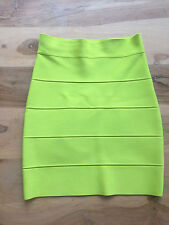 BCBG MAXAZRIA Simone Rock in Gelb Gr XS Power Skirt Bandage top Zustand