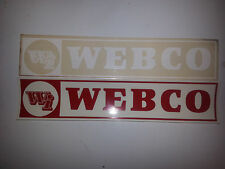 Webco decals. Old School BMX. Choose from Red, Yellow, Black, White, & Gold