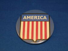 Lot of 3 America Buttons American flag crest shield pin pinback Usa Patriotic