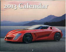 EXOTIC CARS 2013 CALENDAR; Loya Insurance Promotional, NEW