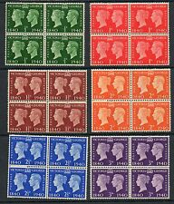 GB GVI 1940 centenary SG479-484 unmounted mint set as blocks of 4 stamps