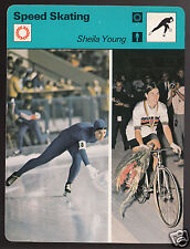 SHEILA YOUNG Speed Skating & Cycling Olympics 1977 SPORTSCASTER CARD 03-05B