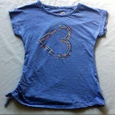 Stardoll Purple Studded Bling Rainbow Heart <3 Shirt Top Size Medium 8/10