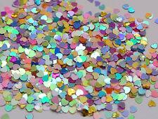50Gram Mixed Color Heart Sequins Loose Tiny 3mm Nail Art