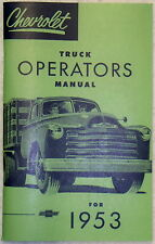 53 1953 Chevy Chevrolet truck Owners manual glove box