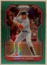 New listing 2021 Panini Prizm Baseball Mark McGwire Green Refractor #58