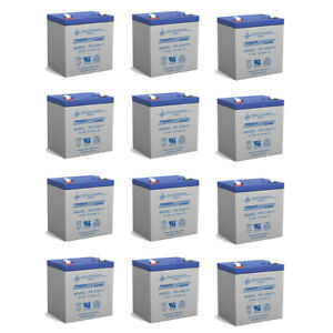 Power-Sonic 12V 5AH SLA Battery Replacement for Lectronic Kaddy 2000 - 12 Pack