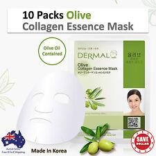 10x DERMAL Olive Collagen Essence Facial Face Mask Sheet Skin Pack Korea