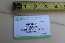 Mike Hynson Endless Summer Surf Syndicate Surfboard Vintage Surfing Card Badge