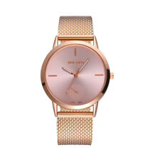 Fashionable High Hardness Glass Mirror Men And Women Mesh Belt  Waist Watch CA