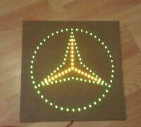 Mercedes Benz Schild / LED Emblem / 24 Volt grün / gelb