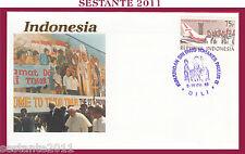 W240 VATICANO FDC ROMA VISITA PAPA GIOVANNI PAOLO II INDONESIA 1989