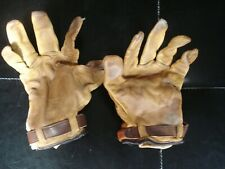 Vintage Pair Of Men's Leather Handball Gloves Size Medium