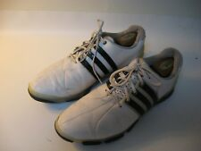 Adidas Tour 360 Men's White Black Leather Golf Shoes - US 11