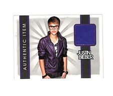 2012 Panini #24 Justin Bieber authentic event worn shirt relic card Singer