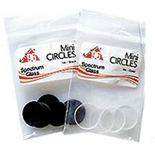 Stained Glass Supplies-Pre-Cut MINI CIRCLES CLEAR (6) (Free Shipping)