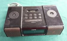 No Power Cable iHome Black Model iH9 Speaker Dock Dual Alarm Clock 32 Pin iPod