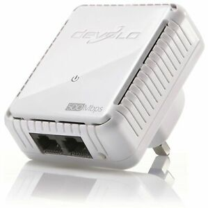 DEVOLO 9100 POWERLINE DLAN 500 DUO ADD-ON NON-WIFI ADAPTER, 2 LAN PORTS MT2740