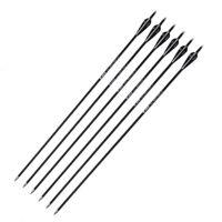 "6PCS 30"" 7.8mm Carbon Arrows OD Shaft Archery Fit Sports Hunting Bow"