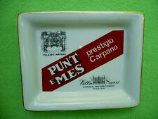Vintage RARE Ginori made PUNT E MES prestigio Carpano ALCOHOL advertising tray