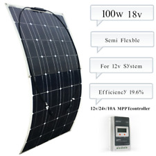 100w flexible Solar Panel 36 Cells+10A Controller for Boat Home Off-grid Charger