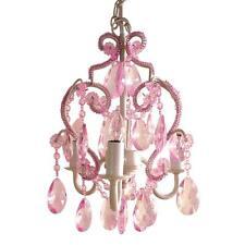 3-Light Mini Crystal Chandelier Pendant Lighting Kids Little Girls Bedroom Decor