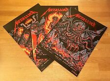 Metallica Mexico City Poster 2017 Set Red Foil Variant 3 Print Lot #/30 Munk One