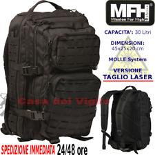 Zaino Assault Incursore TAGLIO LASER 30 Litri Militare Molle System MFH Outdoor