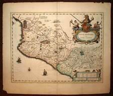 Carte géographique ancienne AMERIQUE LOUISIANE NOUVELLE ESPAGNE par Blaeu 1640