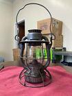 VINTAGE DIETZ VESTA N.Y.C.S. USA RAILROAD OIL LAMP w/ GLASS GLOBE (RR)