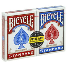 Pack 2 Barajas Naipes Bicycle 2 Pack Indices Estandar Poker Standard Roja Y Azul