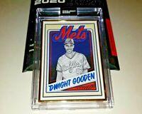 Topps PROJECT 2020 1/1 GOLD FRAME Card #65 - 1985 Dwight Gooden Mister Cartoon