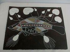 "AUSTRALIAN ABORIGINAL ARTIST WILFRED NAWIRRIDJ CLAN WURRIK PAINTING of FISH 16"""