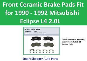 Front Ceramic Brake Pads Fit for 1990 1991 1992 Mitsubishi Eclipse L4 2.0L Brake