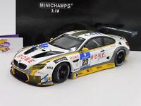 "Minichamps 155162623 # BMW M6 GT3 No. 23 24h Nürbutgring 2016 "" Rowe "" 1:18 NEU"