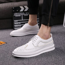 New Mens Brogues Wing Tip Pointy Toe Causal Lace Up Oxfords Formal Shoes Dress