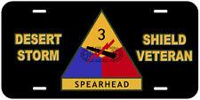 Desert Storm Shield Veteran Novelty Car License Plate