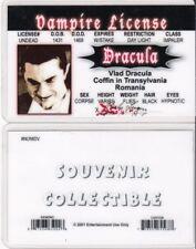 Vampire License Vlad Bela Lugosi collectors card Drivers License i.d. card