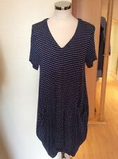 Capri Tunic Dress Size S/M BNWT Navy White Striped, Pockets RRP £68 NOW £27
