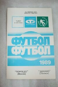 Vintage USSR Soccer Programme Torpedo Moscow - Dinamo Tbilisi USSR Georgia