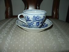 HUTSCHENREUTHER CHINA BLUE ONION CUP AND SAUCER TALL #2