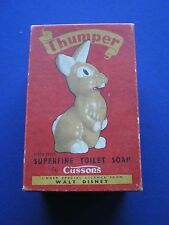 Walt Disney - Cusson's Thumper Superfine Toilet Soap - Empty Box  1950s