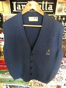 Vintage Nick Faldo Pringle Jumper Sleeveless L Xl Blue